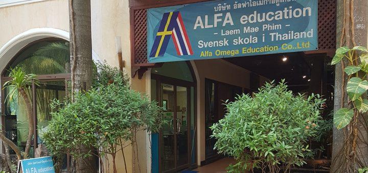 Entrén till svenska skolan i Mae Phim